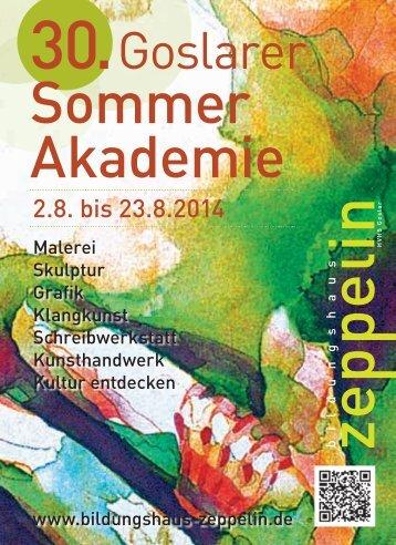 Sommer Akademie - Goslar - Bildungshaus Zeppelin