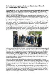 Bericht der Bezirksgruppen Bodensee, Oberland und ... - DVW eV