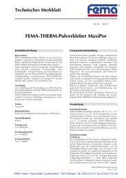 FEMA-THERM-Pulverkleber MaxiPor - FEMA Farben + Putze GmbH