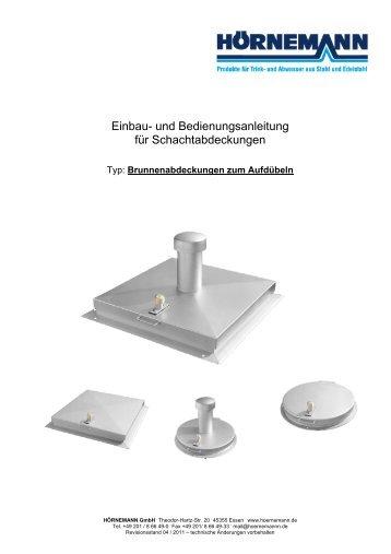 Einbau/Bedienung-Brunnen-Schachtabd. - bei Hörnemann