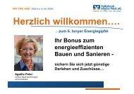 Ihr Bonus zum energieeffizienten Bauen und ... - in Isny im Allgäu