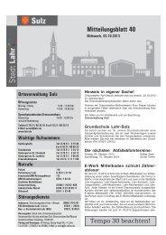 Mitteilungsblatt Sulz 40 / 2013 (application/pdf) - Stadt Lahr