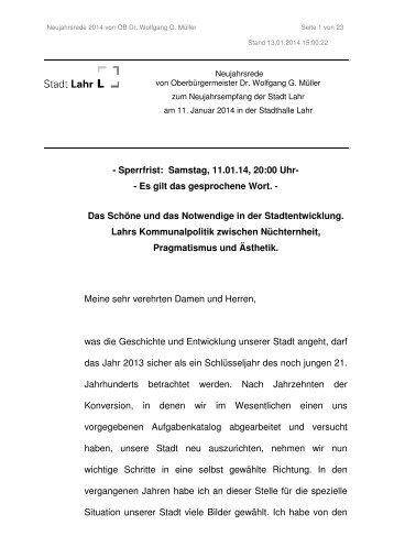 Neujahrsansprache für das Jahr 2014 (application/pdf) - Stadt Lahr