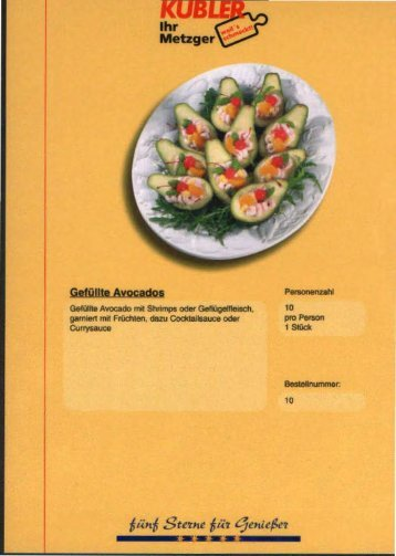 Partyservice Platten (PDF) - Kübler - Ihr Metzger