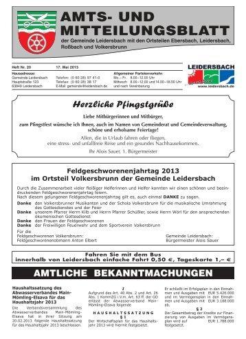 Amts- und Mitteilungsblatt 2013_05_17 - Leidersbach