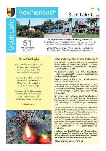 Mitteilungsblatt Reichenbach 51/2013 (application/pdf) - Stadt Lahr