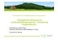 aktueller Stand, Vergütung des EEG, Thematik Bioabfall - Deutscher ...