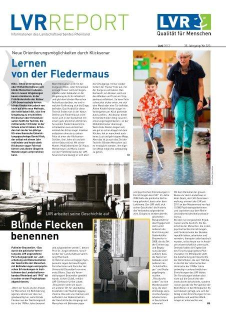 LVR-Report - Landschaftsverband Rheinland