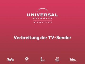 Informationen zur Verbreitung auf einen Blick - NBC Universal