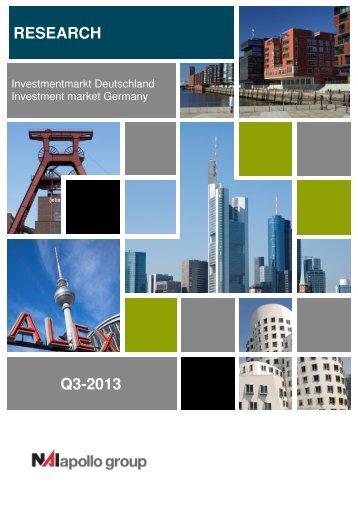 NAI apollo Investmentmarkt Deutschland 3.Q.2013dt. / engl.