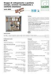 Gruppo di collegamento e gestione energia, versione ... - Caleffi