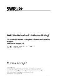 Wagners Cosima und Cosimas Wagner - Inbrunst im Herzen (1)