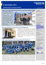 2. Newsletter 2013 - THW OV STOLBERG