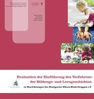 Evaluation der Einführung des Verfahrens der Bildungs- und ...