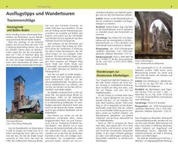 Ausflugstipps und Wandertouren - VCD
