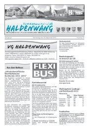 Mitteilungsblatt Nr. 19 - Verwaltungsgemeinschaft Haldenwang