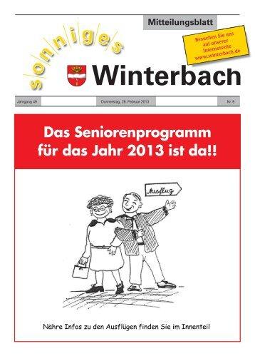 Mitteilungsblatt KW 9/2013 - Gemeinde Winterbach