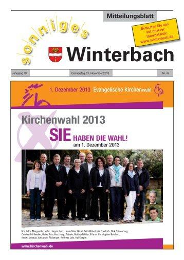 Mitteilungsblatt KW47/2013 - Gemeinde Winterbach
