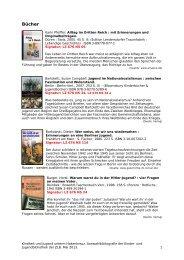 Eine Auswahlbibliographie informiert über die ausgewählten Medien