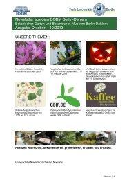 Newsletter aus dem BGBM Berlin-Dahlem Ausgabe Oktober – 10 ...