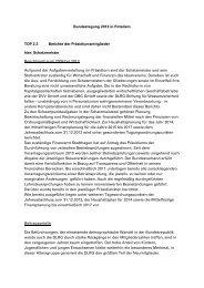 Bericht Schatzmeister - DLRG