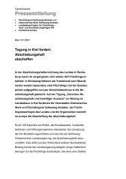 Rendsburg, 3 - Flüchtlingsrat Schleswig-Holstein eV