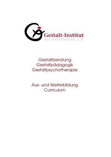 Gesamt-Curriculum der Aus- und Weiterbildung am Gestalt