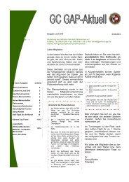 Infozeitschrift Juni 2013 - Golfclub Garmisch-Partenkirchen