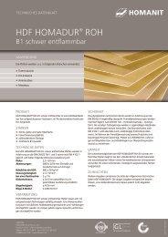 hDF hOmADUR® ROh - Homanit Werk