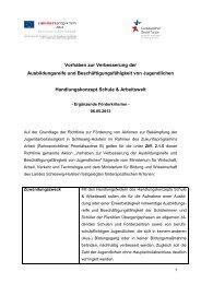 Ergänzende Förderkriterien B5 - Investitionsbank Schleswig-Holstein