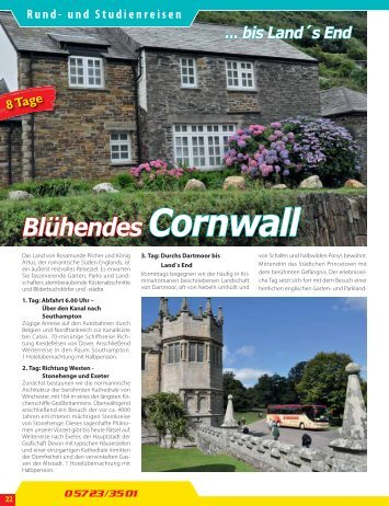 Blühendes Cornwall - Jürgens Reisen
