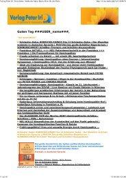 Guten Tag ###USER_name###, - Verlag Peter Irl
