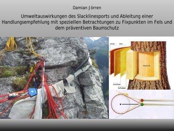 Damian Jörren - Umweltauswirkungen des Slacklinesports ... - JDAV