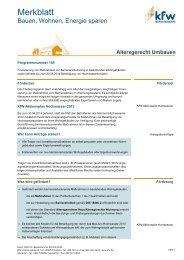 Merkblatt Altersgerecht Umbauen - KfW