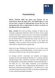 Pressemeldung hier downloaden - Mainzer Volksbank eG