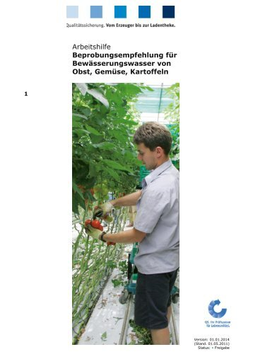 AH Beprobungsempfehlung für Bewässerungswasser von Obst ...