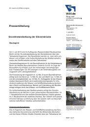 Grundinstandsetzung der Sieversbrücke - Baubeginn - WSV