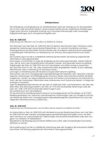 Defektprothesen Die Anfertigung und Eingliederung von ...
