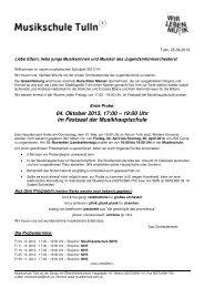 Orchesterbrief und Probenplan 2013/14