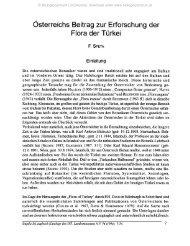 Österreichs Beitrag zur Erforschung der Flora der Türkei