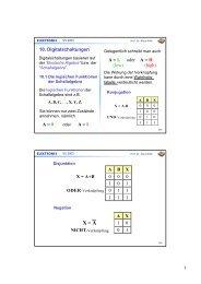 10. Digitalschaltungen A = 0 A = 1 A = L oder A = H - DELTA, Uni ...