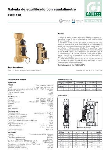 Válvula de equilibrado con caudalímetro - Caleffi