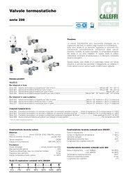 Valvole termostatiche. Serie 220 - Caleffi