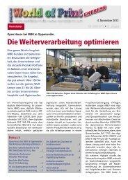 Die Weiterverarbeitung optimieren - CAT-Verlag Blömer GmbH