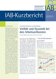 Flexibilität für Betriebe und Beschäftigte: Vielfalt und Dynamik ... - IAB