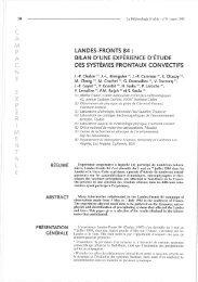LANDES-FRONTS 84 : BILAN D'UNE EXPÉRIENCE D'ÉTUDE DES ...