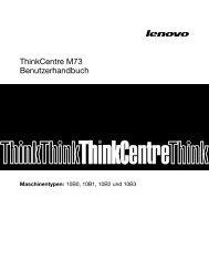 ThinkCentre M73 Benutzerhandbuch - Lenovo