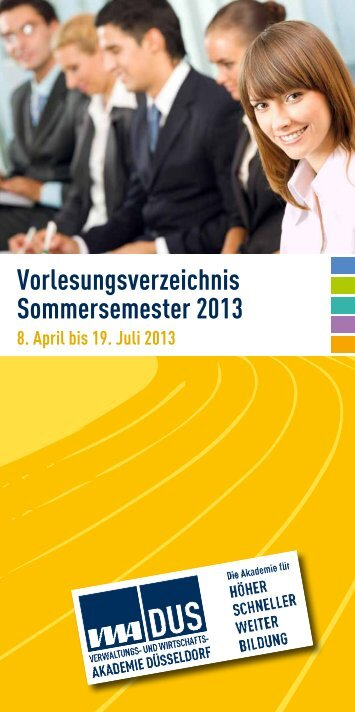 VWA Düsseldorf - Sommersemester 2013 - Stadt Düsseldorf