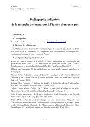 Bibliographie indicative : de la recherche des manuscrits à ... - Source