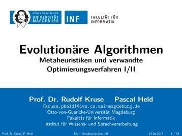 Evolutionäre Algorithmen - Otto-von-Guericke-Universität Magdeburg